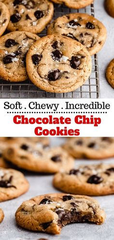 Learn how to make the best soft and chewy chocolate chip cookies! This super easy cookie recipe makes irresistible, big, thick and gooey cookies. You're going to love the slight crispy exterior and soft and chewy center with the most incredible classic chocolate chip cookie flavor. From here on out, this is the only homemade chocolate chip cookie recipe you need!
