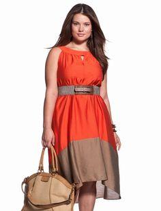 Colorblock Tie Waist Dress