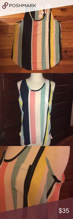 🆕 Ann Taylor Loft Top perfect for Spring/Summer New Ann Taylor Loft Outlet top. Cute and perfect for the coming Spring! New with tags. Never worn. Perfect condition. It ended up not being my size. Slightly transparent polyester material. Ann Taylor Tops Tank Tops