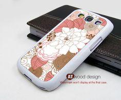 Samsung Galaxy SIII Galaxy S3 i9300 Case unique Case Samsung Case Red flower graphic design. $14.99, via Etsy.