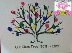 Classroom DIY: DIY Fingerprint Tree (Class memory gift)