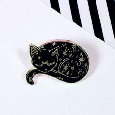 Mystical Cat Enamel Pin | Punky Pins – punkypins