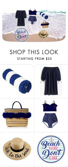 """""""Beach Style"""" by emy-huerta ❤ liked on Polyvore featuring J.Crew and Mari Giudicelli"""