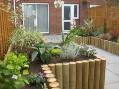 ideas for wooden landscape edging raised beds