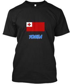 Tonga Flag Artistic Blue Design Black T-Shirt Front - This is the perfect gift for someone who loves Tonga. Thank you for visiting my page (Related terms: I Heart Tonga,Tonga,Tongan,Tonga Travel,I Love My Country,Tonga Flag, Tonga Map,Tonga Language, Tong #Tonga, #Tongashirts...)