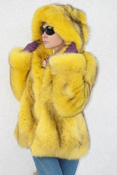 1000+ images about Yellow Fur Coats on Pinterest | Fur Coats, Fur ...