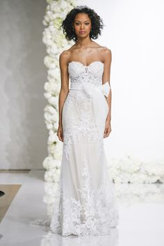These are the wedding dress trends of Meghan Markle mania, royal wedding, bridal jumpsuits, sexy v-neck wedding dresses, and more. Short Wedding Gowns, V Neck Wedding Dress, Top Wedding Dresses, Wedding Dress Trends, Wedding Attire, Bridal Gowns, One Shoulder Wedding Dress, Wedding Ideas, Lace Wedding