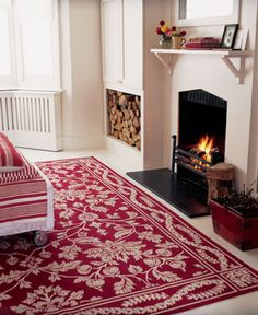 wow! would love to have a room to use this rug.