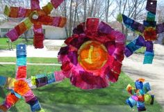 Recycled Bottle Sun Catchers