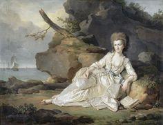 Portrait of Louise Marie Adélaïde de Bourbon (1753-1821), duchesse de Chartres (1777-1778). Joseph-Siffrein Duplessis (French, 1725-1802). Oil on canvas. Musée Condé.