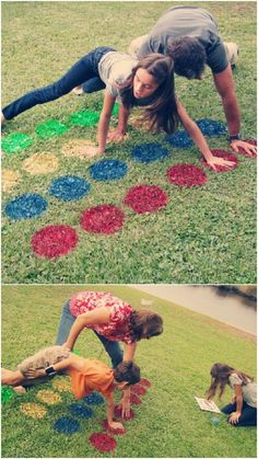 Games are so much fun, especially when you can play them outside! Easily create an outdoor twister mat on your lawn with spray paint. Who said twister was for kids only? This is the perfect activity for a summer party with adults, as well! Outdoor Twister, Outdoor Games, Outdoor Fun, Twister Game, Outdoor Parties, Messy Twister, Outdoor Activities, Scouting, Picnic