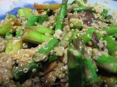 Quinoa con Ajetes y Shiitake | Mis Recetas Anticáncer