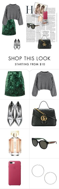 """Iga - Sacramento 12.27"" by imogen567 ❤ liked on Polyvore featuring Sandro, Casadei, Gucci, Polaroid, HUGO and Miss Selfridge"