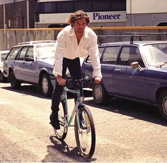 INXS lead singer Micheal Hutchence used to keep fit by cycling but he was always dressed t...