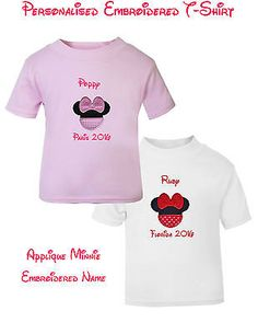 #Personalised girls t shirt #disney minnie florida #paris name & year holiday tri,  View more on the LINK: 	http://www.zeppy.io/product/gb/2/222135374735/