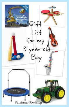 gift ideas for my 3 year old boy