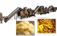 Automatic Banana Chips Production Line Potato Chips Machine, Fryer Machine, Machine Project, Fresh Potato, Packaging Machine, Banana Chips, Sliced Potatoes, Making Machine, Fragrance