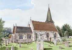 Cobham Church Surrey - Church Art by John Lynch