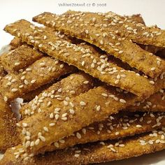 slane-mrkvove-tycinky Bread Recipes, Cooking Recipes, Healthy Recipes, Healthy Salt, Healthy Food, Finger Foods, Bacon, Clean Eating, Paleo