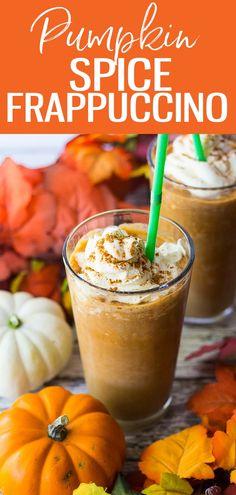 Pumpkin Spice Frappuccino, Starbucks Pumpkin Spice, Starbucks Frappuccino, Starbucks Drinks, Raspberry Smoothie, Fruit Smoothies, Sushi, Frappe Recipe, Latte Recipe