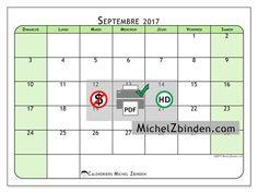 Calendrier septembre 2017 - Silvanus