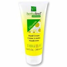 Glycerin Hand Cream 200ml cream by Herbalind by Herbalind. $13.95. Please read all label information on delivery.. Country of origin: Germany. 200 ml cream. A proven and effective formula for optimum care of rough, dry and chapped skin.  A unique blend of natural ingredients, Glycerin, Vitamins A & E, and Alpha Hydroxy Acids help to restore softness and provide moisture.  Leaves skin feeling soft and supple, while Silicon (Dimethicone) seals in the new-found moisture.