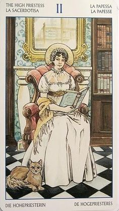 """The HIgh Priestess"" from the Jane Austen Tarot (by  Lo Scarabeo & Diane Wilkes)"