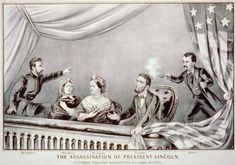 On Good Friday evening (April 14, 1865), President and Mrs. Lincoln attended a performance at Ford's Theater in Washington. At shortly after 10 o'clock, John Wilkes Booth entered the presidential box and shot President Lincoln in the back of his head. The President died the next day (April 15).