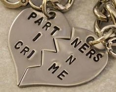 Partners in Crime Keychain  BFF Gift  Best Bitches by TwentySix7, $25.00. Lacey and I need these!