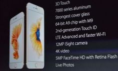iPhone 6S announced: 3D Touch, 12-megapixel rear camera, rose gold finish, available September 25th for 9
