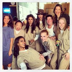 """When they got so excited to be working together, a photo just had to be taken. 