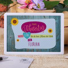 Senden Sie zum Muttertag mit dieser nostalgischen Blechpostkarte einen lieben Gruß an Ihre Mama. Ob Sie im gleichen Ort wohnt oder weit entfernt - über diese originelle Karte wird sie sich mit Sicherheit freuen.