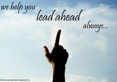 Lead ahead always...!!!