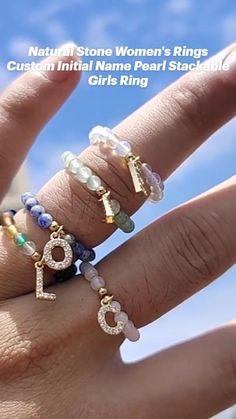 Simple Earrings, Statement Earrings, Women's Earrings, Pearl Ring, Pearl Jewelry, Jewelery, Monogram Jewelry, Ring Crafts, Diy Rings