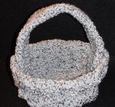 Crochet Shell Basket - Marceline Left Hand Version Crochet Geek