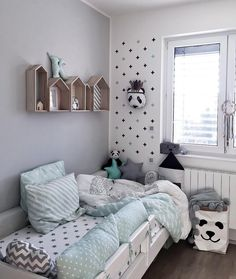 A very cute kid's room - Is To Me Baby Bedroom, Baby Boy Rooms, Kids Bedroom, Toddler And Baby Room, Toddler Rooms, Teen Room Decor, Childrens Room Decor, Chambre Nolan, Kids Room Design
