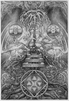 """""""This material assumes form through many methods common to occultists; the play of sacred geometry, imagistic evocation, the permutation of divine names, and writing out my intentions directly in literary form"""" David Chaim Smith Artwork"""
