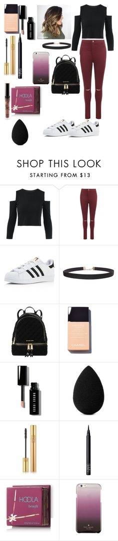 """""""A new set to wear"""" by farahaly ❤ liked on Polyvore featuring WearAll, adidas, Humble Chic, Michael Kors, Bobbi Brown Cosmetics, beautyblender, Yves Saint Laurent, NARS Cosmetics, Hoola and Kate Spade"""