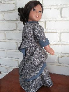 DO THE Bustle! Two Piece Historical Victorian 1870 Bustle Skirt and Fitted Cinched Jacket for American Girl and Other 18 Inch Dolls Bustle Skirt, Gotz Dolls, Our Generation Dolls, Victorian Women, 18 Inch Doll, Red Plaid, Striped Dress, American Girl, High Neck Dress