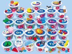 Alphabet Sounds Teaching Tubs  I had these at another site and they are fabulous. I wish I had them.