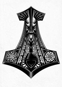 Based on Norse Mythology...Thors Hammer PRINT AVAILABLE on ETSY >…