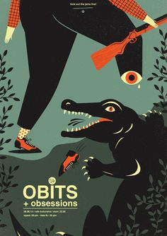 The Obits poster by Dawid Ryski