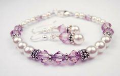 Damali .925 Sterling Silver Crystal Bracelet in June Alexandrite Swarovski Crystal Birthstones - LARGE 8 In. Damali. $89.95