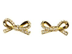 pave bow studs / kate spade