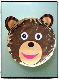 Petit ours brun en assiette en carton [post_tags Paper Plate Crafts, Paper Plates, Toddler Crafts, Diy Crafts For Kids, Preschool Crafts, Preschool Activities, Circus Crafts, Circus Animal Crafts, Bear Crafts