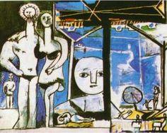 The Beach in Garoupe - Pablo Picasso, 1955