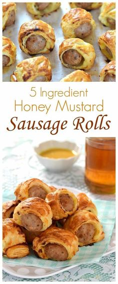 Really easy 5 ingredient honey mustard sausage rolls - a fab easy recipe for kids to make and perfect party food too - cheats sausage rolls recipe from Eats Amazing UK