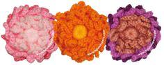 tutorial: flores de cadenetas tejidas a crochet - crochet chain flower