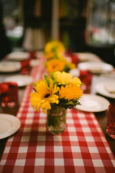 Wedding / Event Tablescape: Rustic Country Farm Table