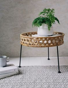 Lovely Rattan Furniture for Your Home. Rattan-based furniture is widely used in Asia, because rattan raw materials can easily be found there. Rattan furniture can give an antique or mode. Table Sofa, Rattan Coffee Table, Rattan Side Table, Side Tables, Cane Furniture, Bamboo Furniture, Living Room Furniture, Furniture Design, Furniture Nyc